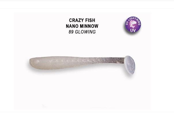 Crazy Fish Nano Minnow 4см Силиконова примамка  89 Glowing