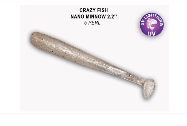 Crazy Fish Nano Minnow 5,5см Силиконова примамка  05 Pearl