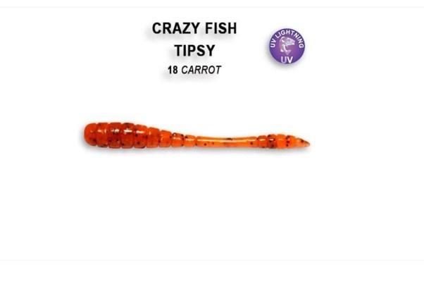 Crazy Fish Tipsy 5см Силиконова примамка  18 Carrot