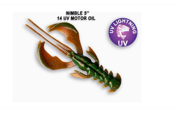 Crazy Fish Nimble 12.5см Силиконова примамка 14 UV Motor Oil