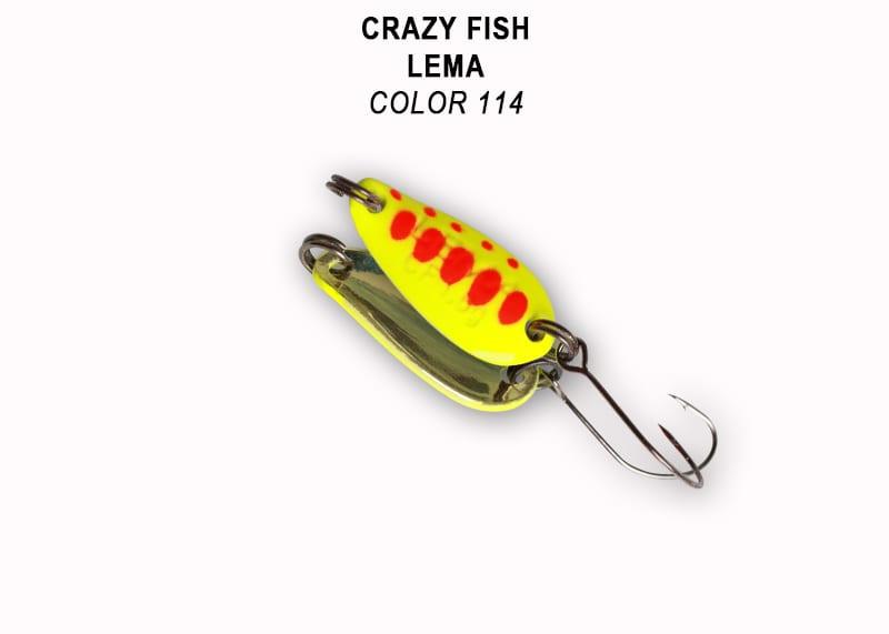 Crazy Fish Lema 1.6гр. Клатушка Цвят 114