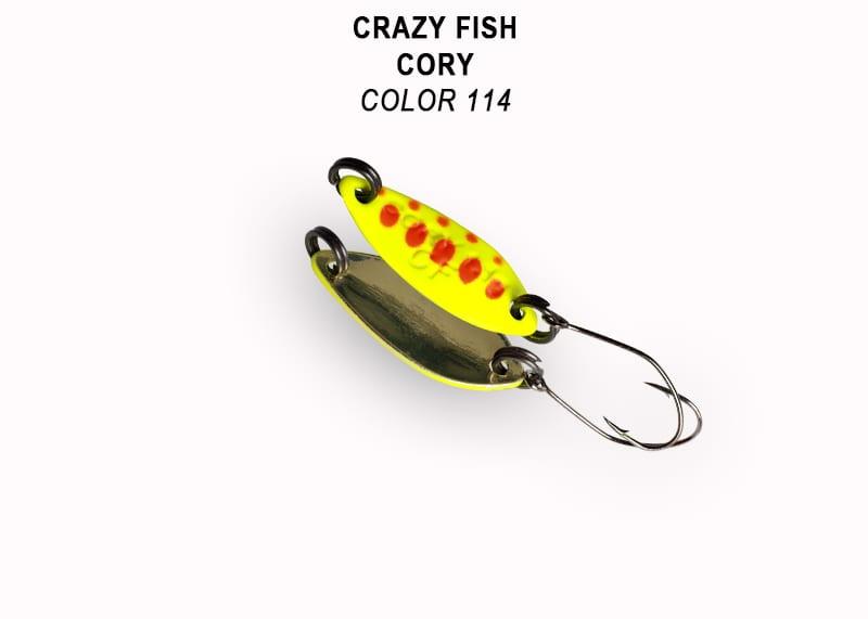 Crazy Fish Cory 1.1гр. Клатушка Цвят 114