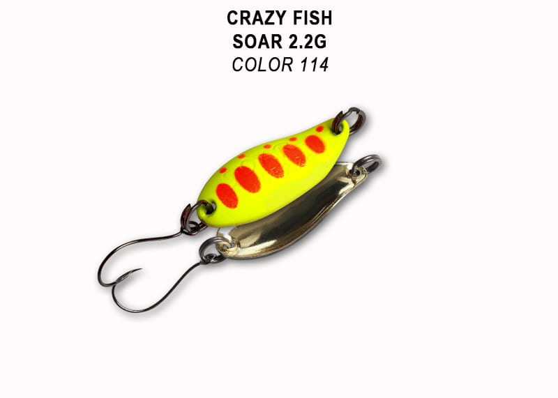 Crazy Fish Soar 2.2гр. Клатушка Цвят 114