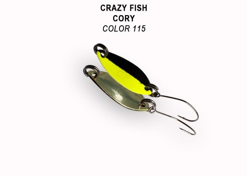 Crazy Fish Cory 1.1гр. Клатушка Цвят 115