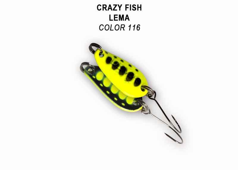 Crazy Fish Lema 1.6гр. Клатушка Цвят 116