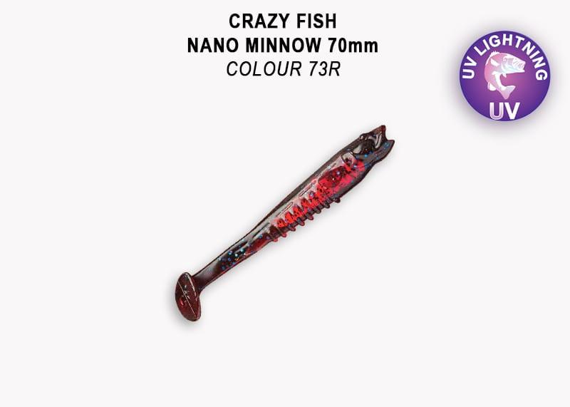 Crazy Fish Nano Minnow 7см Силиконова примамка 73 Blue Ruby