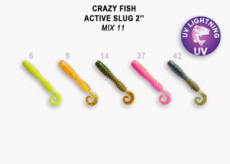 Crazy Fish Active Slug 5см Силиконова примамка  Mix 11