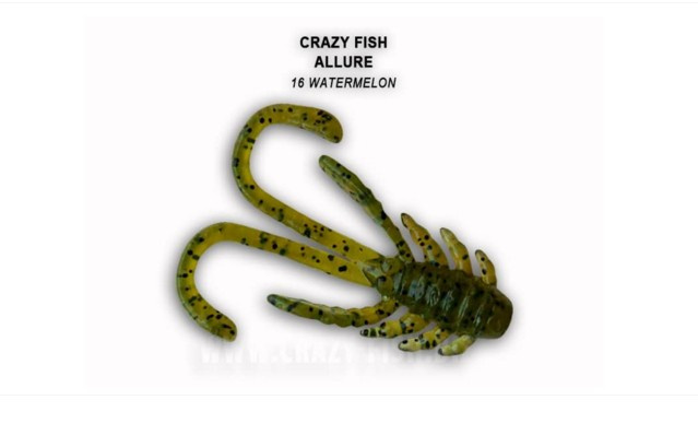 Crazy Fish Allure 4см Силиконова примамка 16 Watermelon