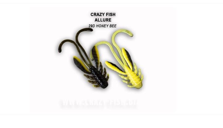 Crazy Fish Allure 4см Силиконова примамка 29D Honey Bee
