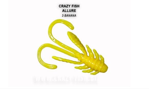 Crazy Fish Allure 4см Силиконова примамка 03 Banana
