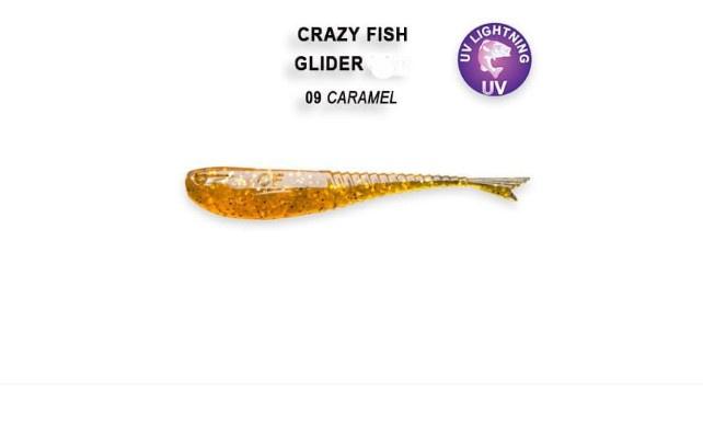 Crazy Fish Glider 5.5см Силиконова примамка 09 Caramel