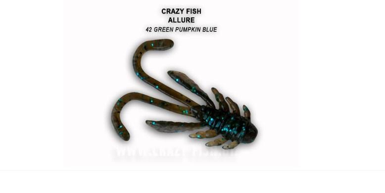 Crazy Fish Allure 4см Силиконова примамка 42 Green Pumpkin