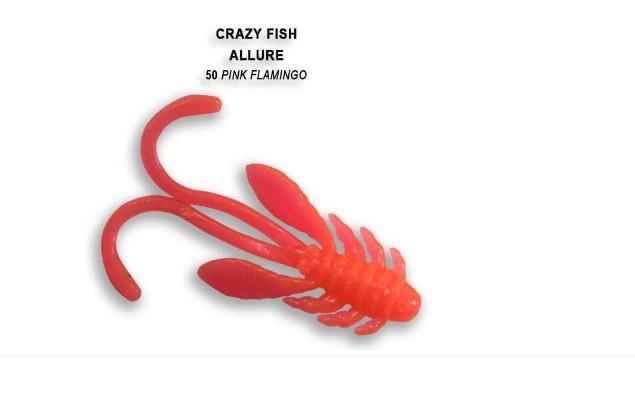 Crazy Fish Allure 4см Силиконова примамка 50 Pink Flamingo