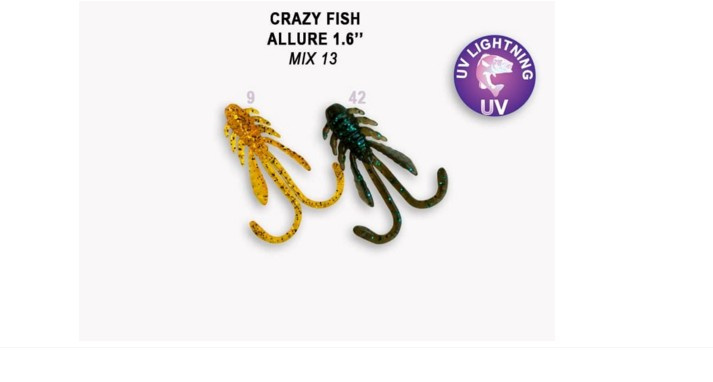 Crazy Fish Allure 4см Силиконова примамка Mix 13