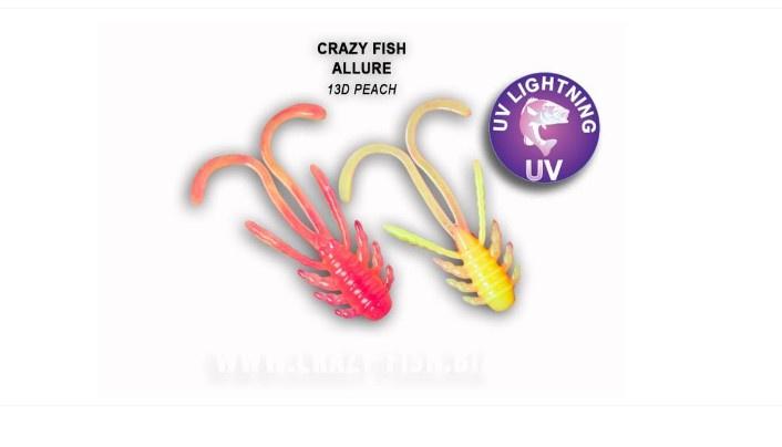 Crazy Fish Allure 4см Силиконова примамка 13D Peach