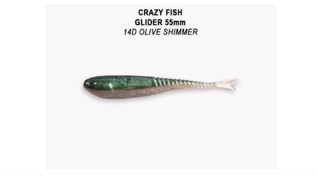 Crazy Fish Glider 5.5см Силиконова примамка 14D Olive Shimmer
