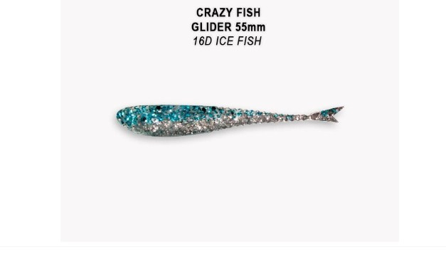 Crazy Fish Glider 5.5см Силиконова примамка 16D Ice Fish