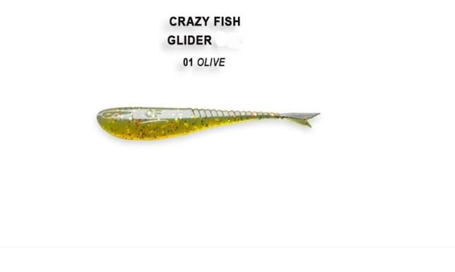 Crazy Fish Glider 5.5см Силиконова примамка 01 Olive