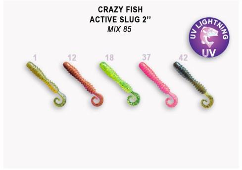 Crazy Fish Active Slug 5см Силиконова примамка  Mix 85