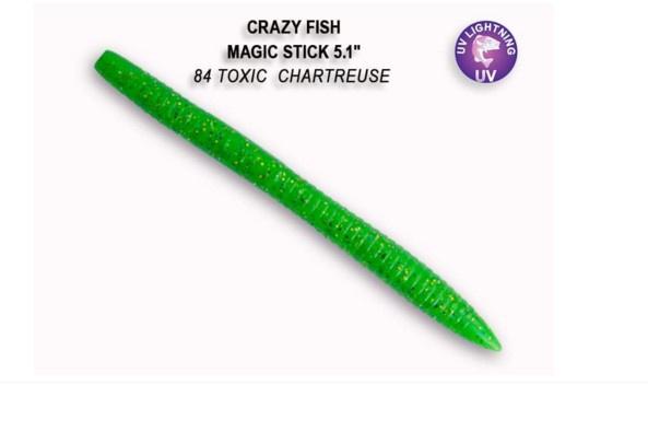 Crazy Fish Magic Stick 13см Силиконова примамка 84 Toxic Chartreuse