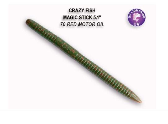 Crazy Fish Magic Stick 13см Силиконова примамка 70 Red Motor Oil