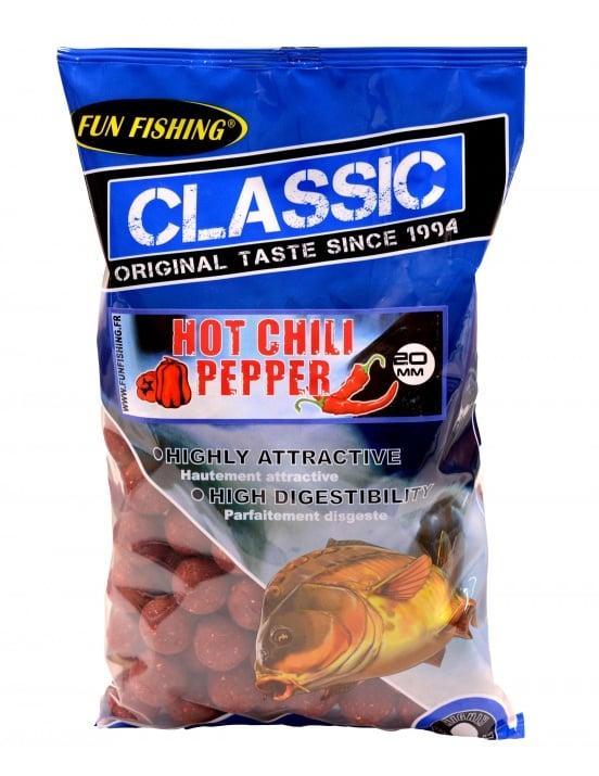 Fun Fishing Classic Boilies 15мм 800гр Протеинови топчета Hot Chili Pepper