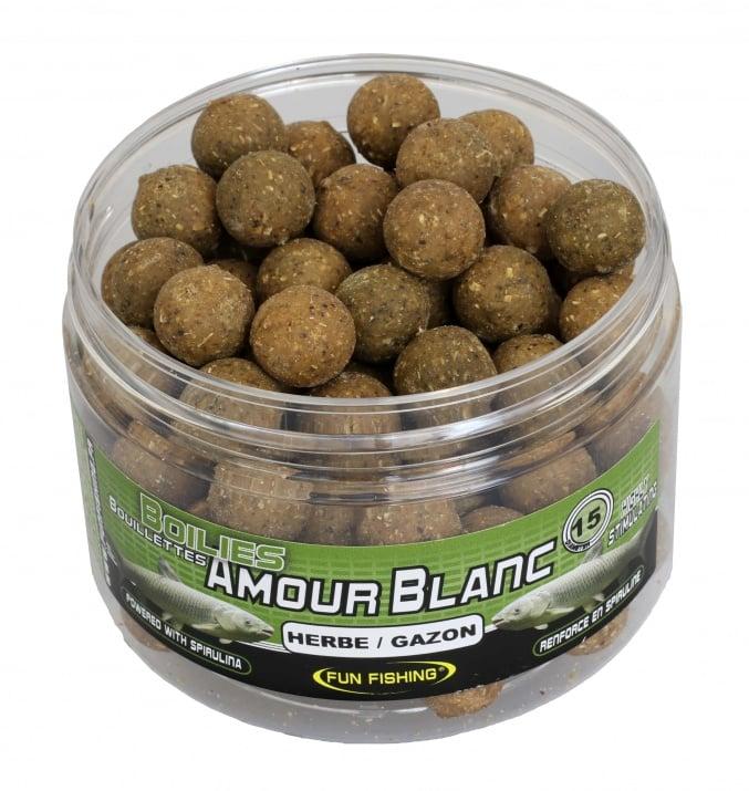 Fun Fishing Amour Blanc Boilies Протеинови топчета за Амур Трева