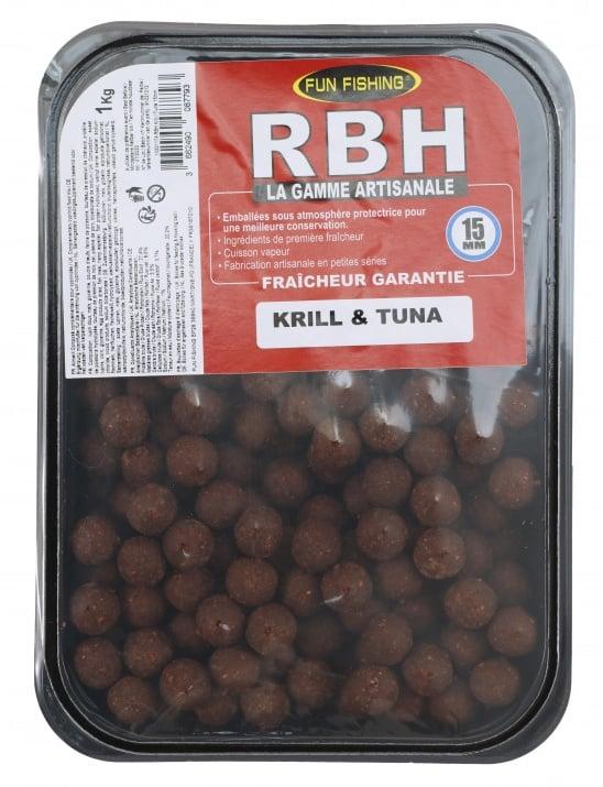 Fun Fishing RBH Boilies Krill Tuna 1kg Протеинови топчета 15mm