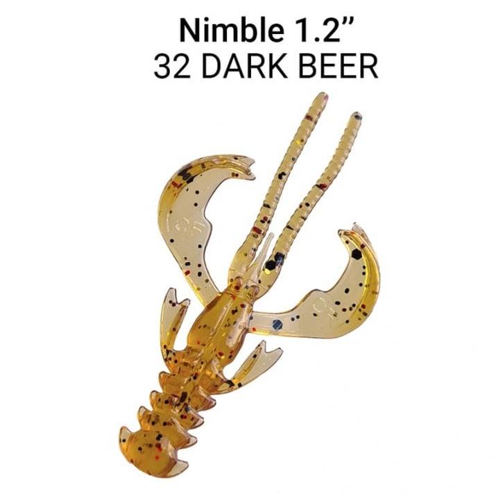 Crazy Fish Nimble 3см Силиконова примамка  32 Dark Beer