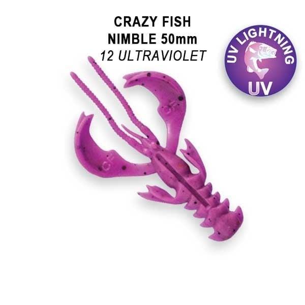 Crazy Fish Nimble 5см Floating Силиконова примамка  12 Ultraviolet