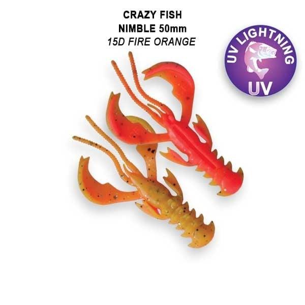 Crazy Fish Nimble 5см Floating Силиконова примамка  15D Fire Orange