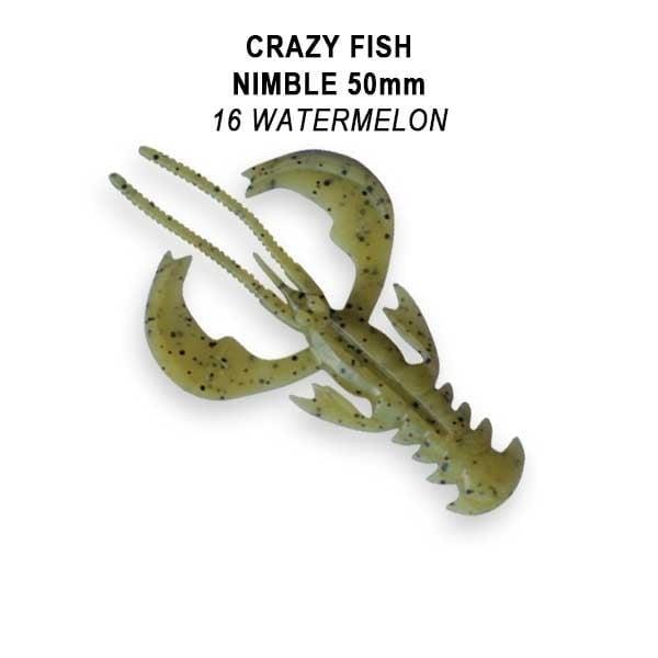 Crazy Fish Nimble 5см Floating Силиконова примамка  16 Watermelon