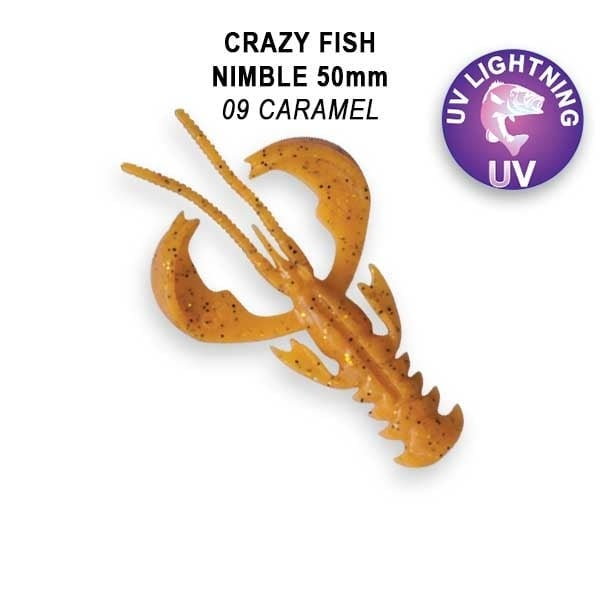 Crazy Fish Nimble 5см Floating Силиконова примамка  09 Caramel