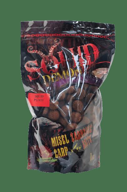 Misel Zadravec Boilies Squid Demon Peach Протеинови топчета 1кг. 16mm
