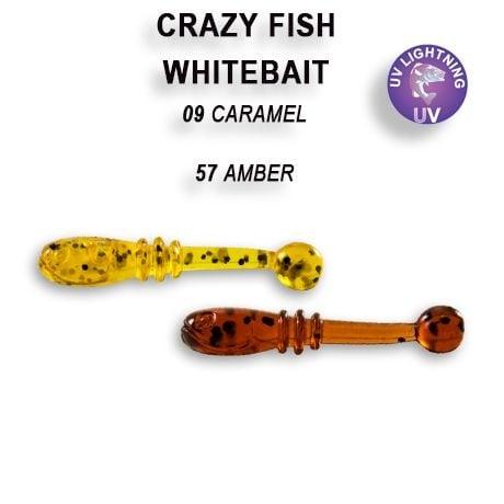 Crazy Fish White Bait 2,1см Силиконова примамка  09 Caramel 57 Amber