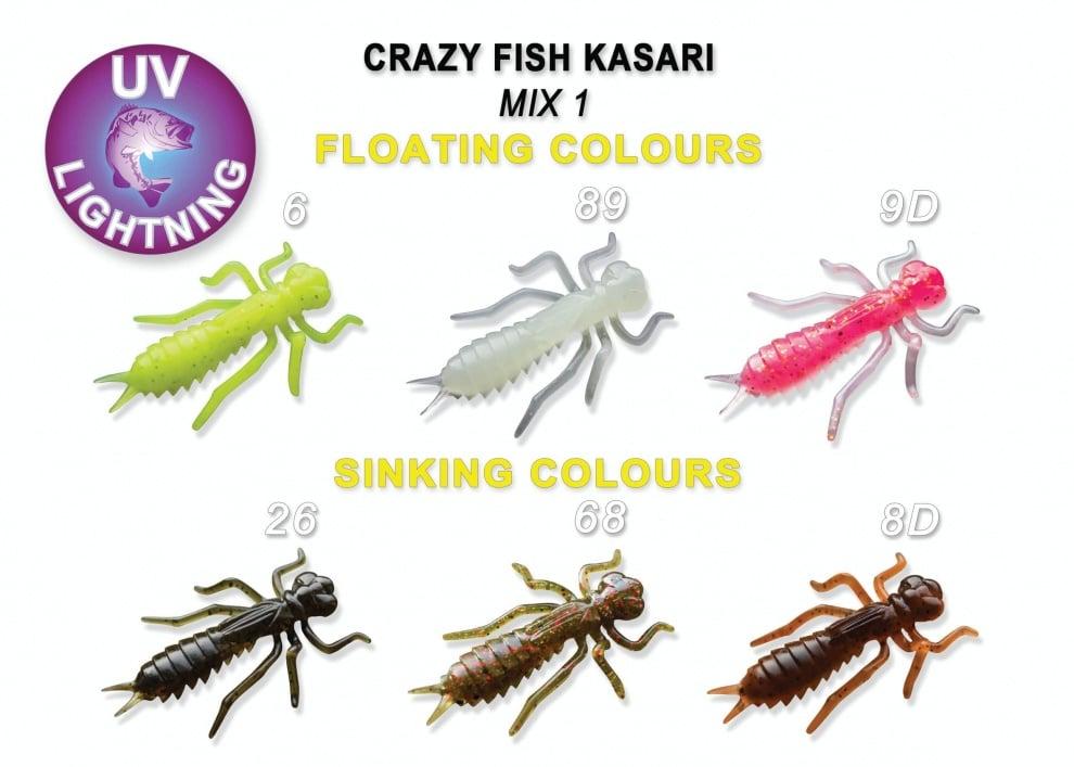 Crazy Fish Kasari 4см Силиконова примамка Mix 1
