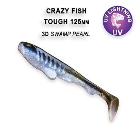 Crazy Fish Tough 12.5 см Силиконова примамка 3D Swamp Pearl