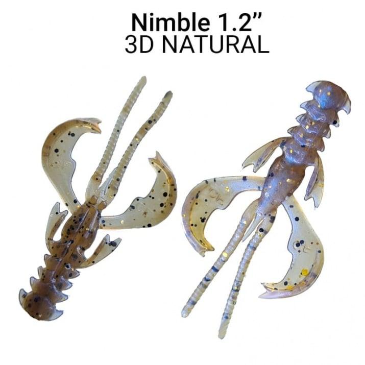 Crazy Fish Nimble 3см Силиконова примамка  3D Natural