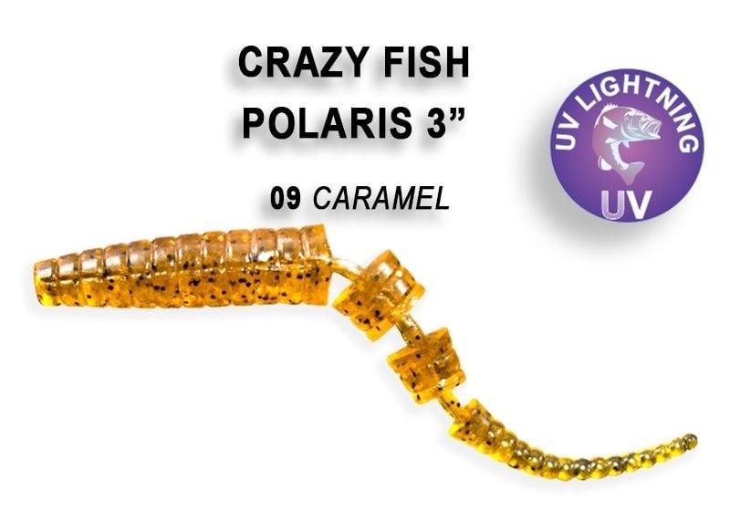 Crazy Fish Polaris 6.8см Силиконова примамка  09 Caramel