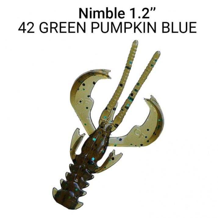 Crazy Fish Nimble 3см Силиконова примамка  42 Green Pumpkin