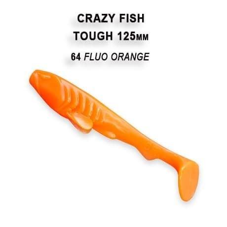 Crazy Fish Tough 12.5 см Силиконова примамка 64 Fluo Orange