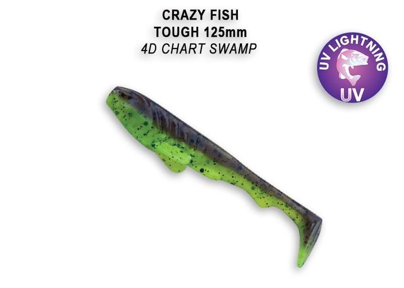 Crazy Fish Tough 12.5 см Силиконова примамка 4D Chart Swamp