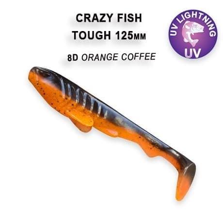 Crazy Fish Tough 12.5 см Силиконова примамка 8D Orange Coffee