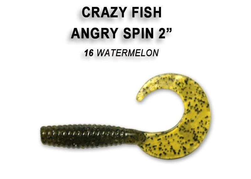 Crazy Fish Angry Spin 5см Силиконова примамка  16 Watermelon