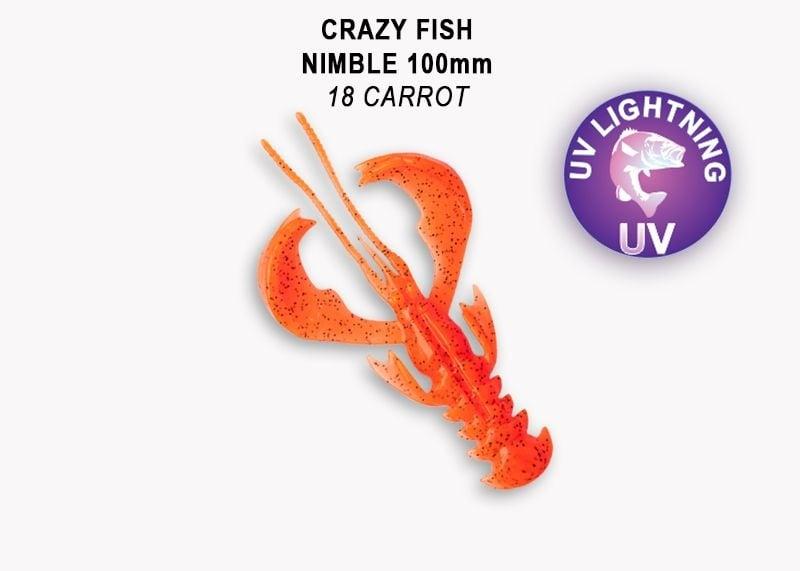 Crazy Fish Nimble 10см Силиконова примамка 18 Carrot