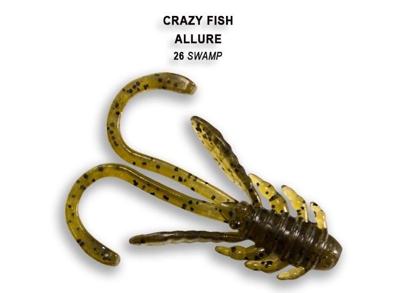 Crazy Fish Allure 4см Силиконова примамка 26 Swamp