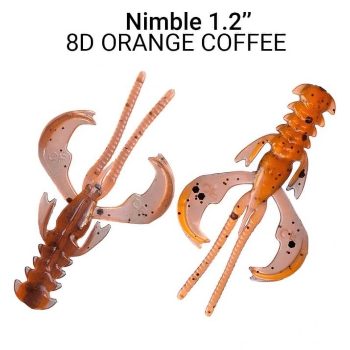 Crazy Fish Nimble 3см Силиконова примамка  8D Orange Coffee