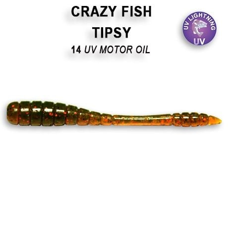 Crazy Fish Tipsy 5см Силиконова примамка  14 UV Motor Oil