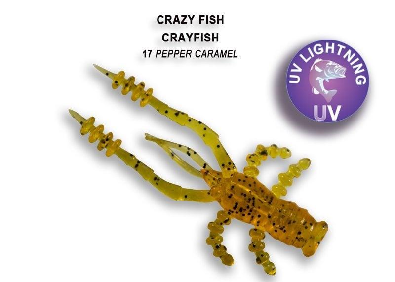 Crazy Fish CrayFish 4.5см Силиконова примамка 17 Pepper Caramel