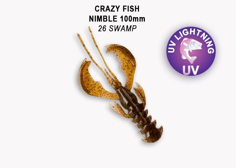 Crazy Fish Nimble 10см Силиконова примамка 26 Swamp
